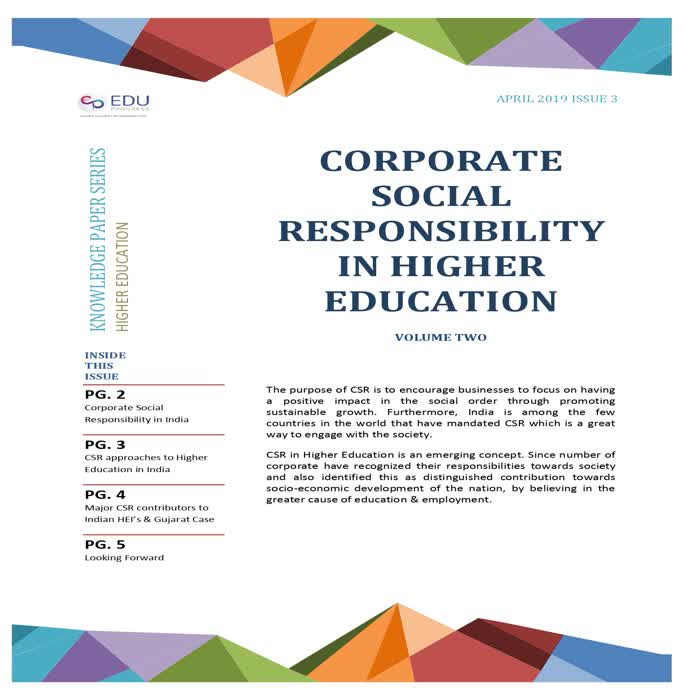 Corporate Social Responsibility in Higher Education